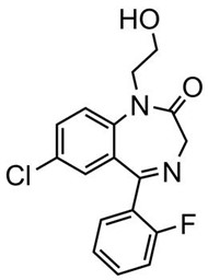 Picture of 2-Hydroxyethylflurazepam