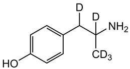 Picture of 4-Hydroxyamphetamine-D5.HCl